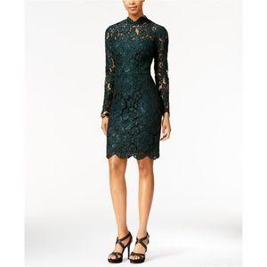 Betsey Johnson Illusion Lace Mock-Neck Dress